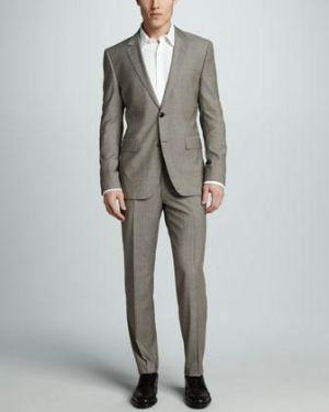 Gifts for men - Sharkskin Suit Tan - Hugo Boss.jpg