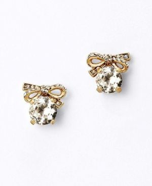 Gifts for women - Ann Taylor Pave Bow Stud Earrings.jpg