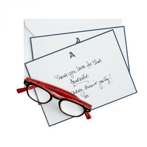 Gifts - Set of 20 Single Initial Letterpress Stationery Navy West Elm.jpg