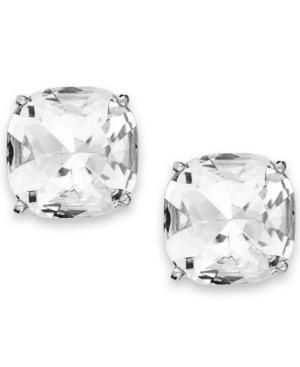 kate spade Silver-Tone Crystal Small Square Clip-On Earrings.jpg