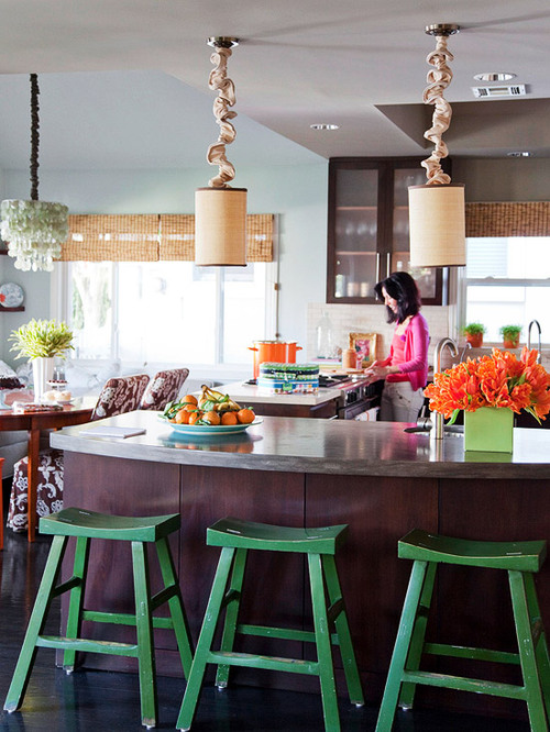 lovely colorful kitchen | STYLISH HOME: Colourful kitchen inspiration