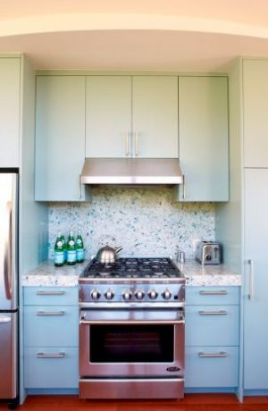 Fashion and decor inspired by mother of pearl - blue themed kitchen.jpg