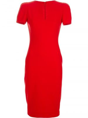 ALEXANDER MCQUEEN slim fit cocktail dress - red.jpg