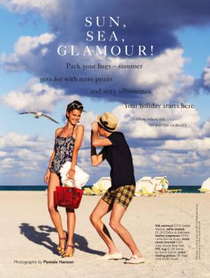 Rudi Ovchinnikova and Wes by Pamela Hanson for Glamour UK May 2013