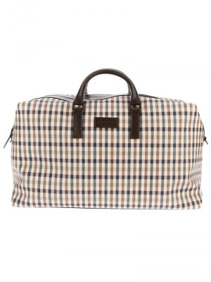 AQUASCUTUM checked weekend bag.jpg