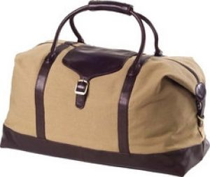 Clava - 551504 Canvas Leather Overnighter - Khaki Canvas Cafe Leather.jpg
