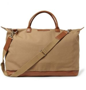 Hartsfield Leather-Trimmed Organic Cotton-Canvas Holdall Bag.jpg