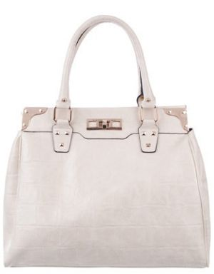 Kardashian Kollection - KK Croc Tote Bag - Beige.jpg