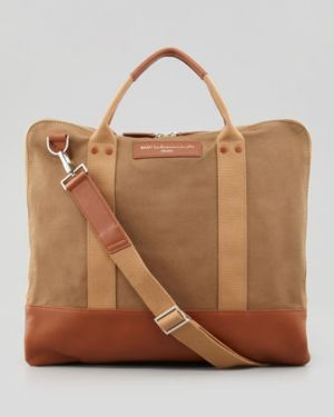WANT Les Essentiels de la Vie Mens Canvas Commuter Bag Beige.jpg