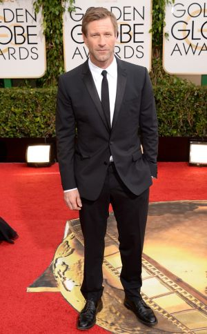 2014 Golden Globes - Red Carpet - Aaron Eckhart