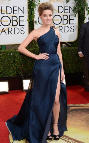 2014 Golden Globes - Red Carpet - Amber Heard