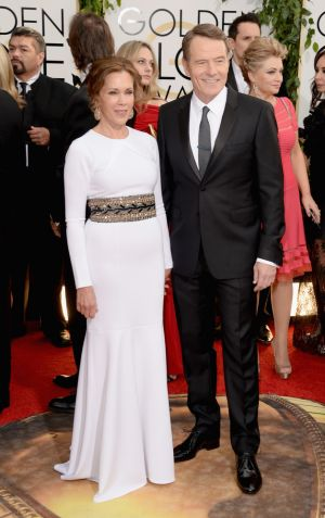 2014 Golden Globes - Red Carpet - Bryan Cranston and Robin Dearden
