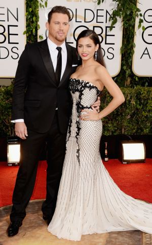 2014 Golden Globes - Red Carpet - Channing Tatum & Jenna Dewan-Tatum