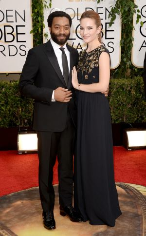 2014 Golden Globes - Red Carpet - Chiwetel Ejiofor & Sari Mercer