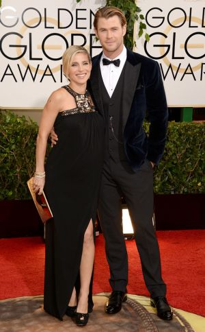 2014 Golden Globes - Red Carpet - Chris Hemsworth & Elsa Pataky