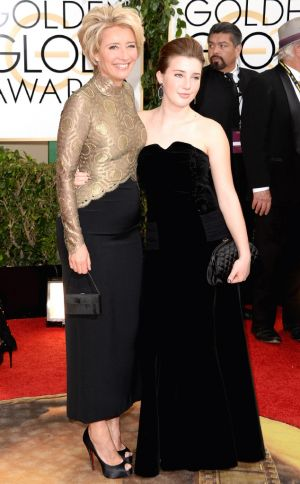 2014 Golden Globes - Red Carpet - Emma Thompson & Gaia Wise