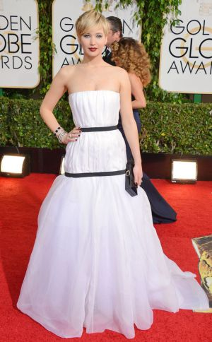 2014 Golden Globes - Red Carpet - Jennifer Lawrence in Dior