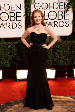 2014 Golden Globes - Red Carpet - Jessica Chastain in Givenchy