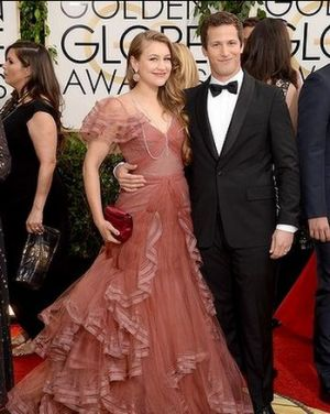 2014 Golden Globes - Red Carpet - Joanna Newsom and Andy Samberg