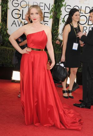2014 Golden Globes - Red Carpet - Julie Delpy in Romona Keveza
