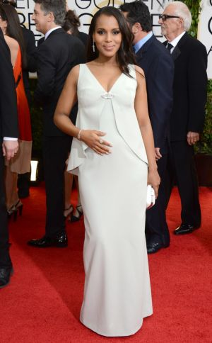 2014 Golden Globes - Red Carpet - Kerry Washington in Balenciaga