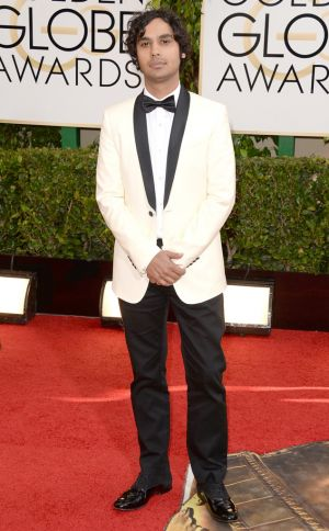 2014 Golden Globes - Red Carpet - Kunal Nayyar