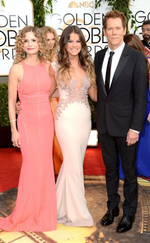 2014 Golden Globes - Red Carpet - Kyra Sedgwick Sosie Bacon & Kevin Bacon