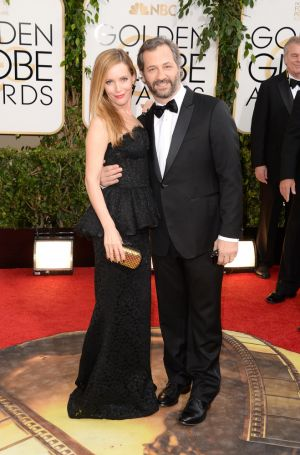 2014 Golden Globes - Red Carpet - Leslie Mann and Judd Apatow