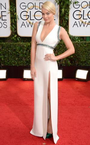 2014 Golden Globes - Red Carpet - Margot Robbie in Gucci
