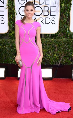 2014 Golden Globes - Red Carpet - Maria Menounos in Jerome C Rousseau and Jennifer Fisher