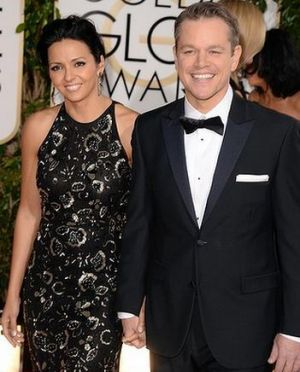 2014 Golden Globes - Red Carpet - Matt Damon and Luciana Damon