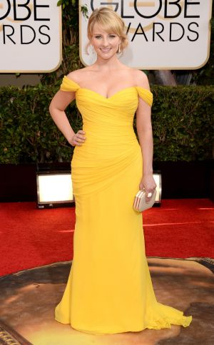2014 Golden Globes - Red Carpet - Melissa Rauch in Romona Keveza