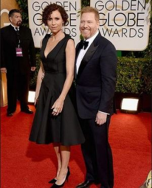 2014 Golden Globes - Red Carpet - Minnie Driver and Ryan Kavanaugh
