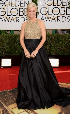 2014 Golden Globes - Red Carpet - Monica Potter in Romona Keveza