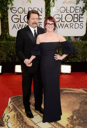 2014 Golden Globes - Red Carpet - Nick Offerman and Megan Mullally