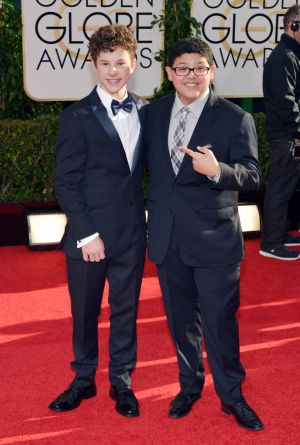 2014 Golden Globes - Red Carpet - Nolan Gould and Rico Rodriguez