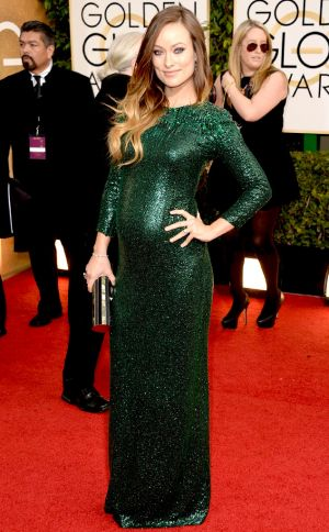 2014 Golden Globes - Red Carpet - Olivia Wilde in Gucci