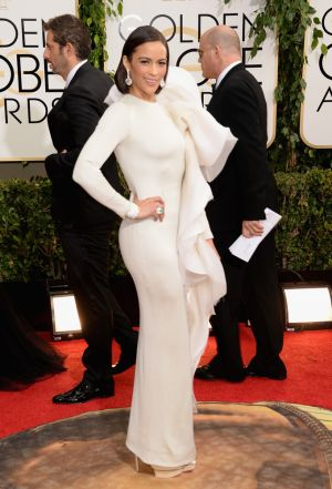 2014 Golden Globes - Red Carpet - Paula Patton