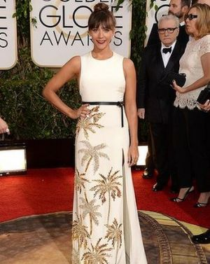 2014 Golden Globes - Red Carpet - Rashida Jones