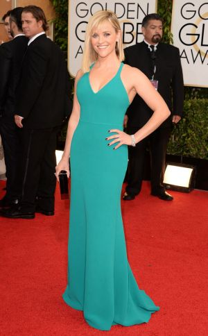 2014 Golden Globes - Red Carpet - Reese Witherspoon in Calvin Klein