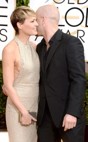 2014 Golden Globes - Red Carpet - Robin Wright & Ben Foster in Reem Acra
