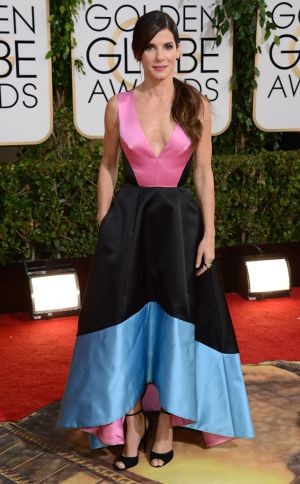 2014 Golden Globes - Red Carpet - Sandra Bullock