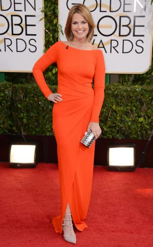 2014 Golden Globes - Red Carpet - Savannah Guthrie in KAUFMANFRANCO