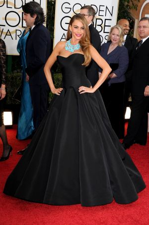 2014 Golden Globes - Red Carpet - Sofia Vergara in Zac Posen