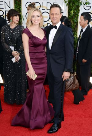 2014 Golden Globes - Red Carpet - Sophie Flack and Josh Charles