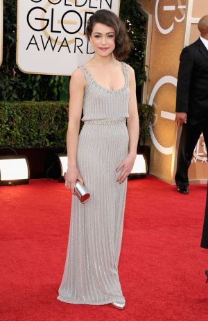 2014 Golden Globes - Red Carpet - Tatiana Maslany in Jenny Packham