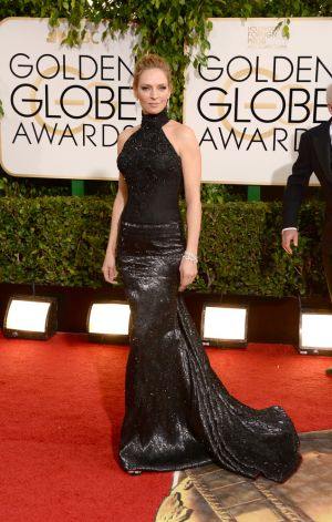 2014 Golden Globes - Red Carpet - Uma Thurman