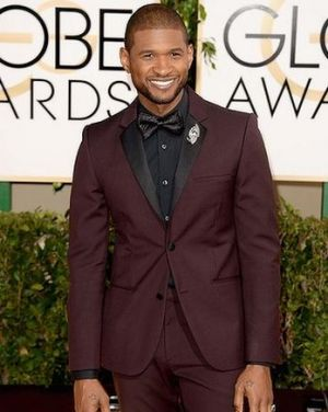 2014 Golden Globes - Red Carpet - Usher