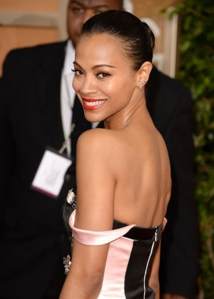 2014 Golden Globes - Red Carpet - Zoe Saldana