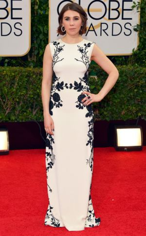 2014 Golden Globes - Red Carpet - Zosia Mamet in Reem Acra